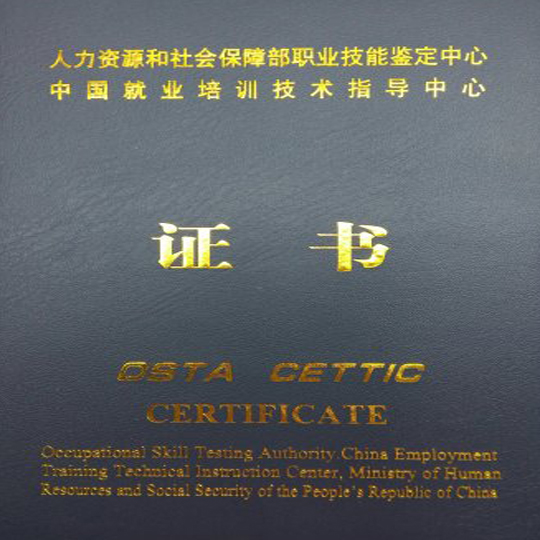 中國(高級)康復理療芳香療法職業能力測評證書